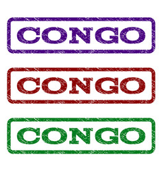 Congo watermark stamp vector