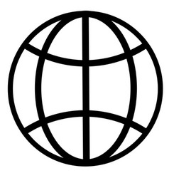 earth globe internet network planet icon vector image