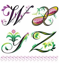 elements w to z vector image vector image