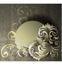 floral banner vector image