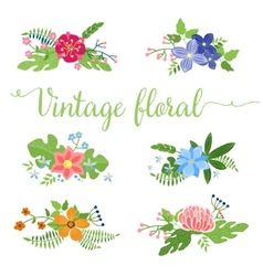 flowers design Set of floral icon vector image vector image