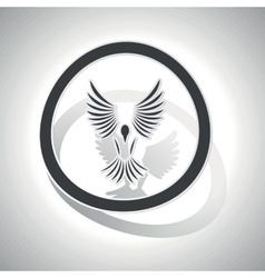 Freedom sign sticker curved vector
