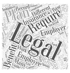 Group Legal plans benefits for employer and vector image