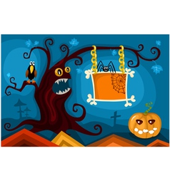 hallowen card set vector image vector image