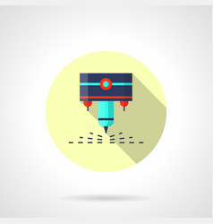 Industrial laser flat round icon vector