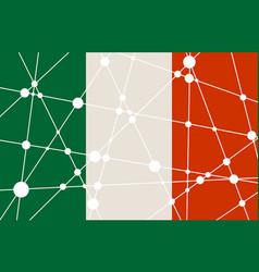 Italy flag concept vector