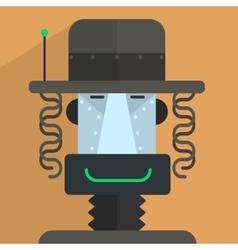 Jewish robot character vector