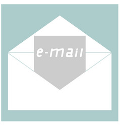 letter the white color icon vector image vector image