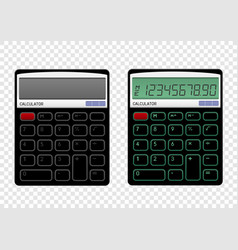 on off calculator vector image vector image