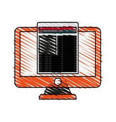 Screen with document vector