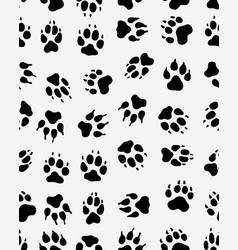 seamless print of dogs paws vector image vector image
