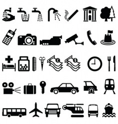 Signage elements vector