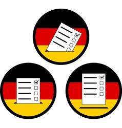 Signs of voting in germany vector