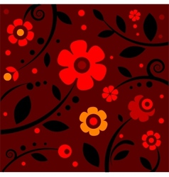 Stylish black and red pattern vector image vector image