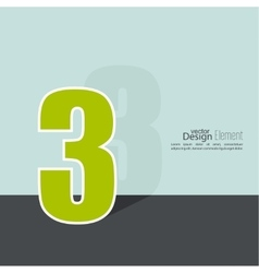 The number 3 vector image