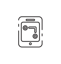 Thin line gps icon vector