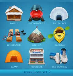 Travel icon set-2 vector