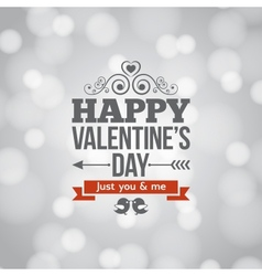 Valentines day silver lights vintage background vector