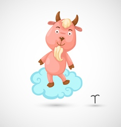 Zodiac signs -capricorn vector image