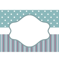 Stripes and polka dot on blue vector