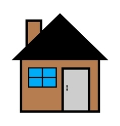 Cool house icon isolated on vector