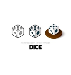Dice icon in different style vector image