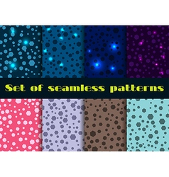 Set seamless pattern with shining sequins vector image