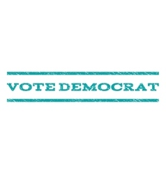 Vote democrat watermark stamp vector