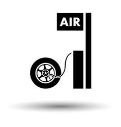 Wheels pump station icon vector