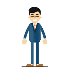 positive and young office manager character vector image