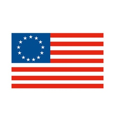 American betsy ross stars and stripes flag vector