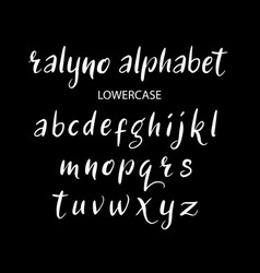 Ralyno alphabet typography vector