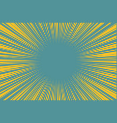Blue yellow pop art background light from the vector