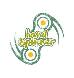 Hand spinner badge vector