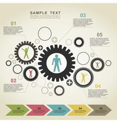 Business gear wheel2 vector image