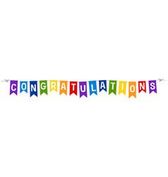 Banner design for congratulations vector