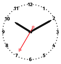 Mechanical clock vector