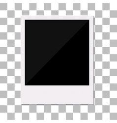 Blank retro polaroid photo frame vector