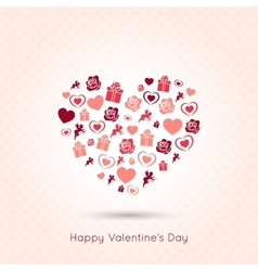 valentines day heart seamless design background vector image