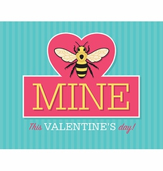 Be mine valentine emblem vector