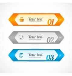 Modern glossy infographics options arrow banner vector image