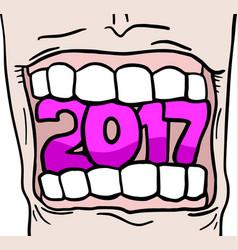 2017 new year symbol vector