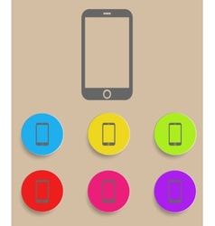 Smartphone icon with color variations vector