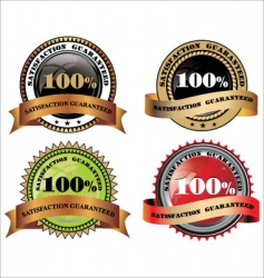 100% satisfaction guaranteed vector image