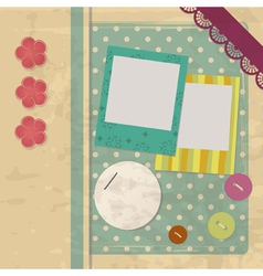 design elements for a vintage scrapbook vector image