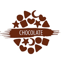 Logo for a set of chocolate candies vector