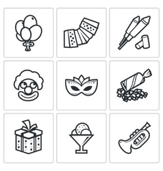 Event agency icons set vector