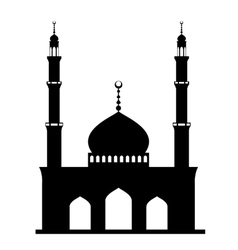 Black mosque on white vector