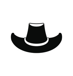 Cowboy hat black icon vector image