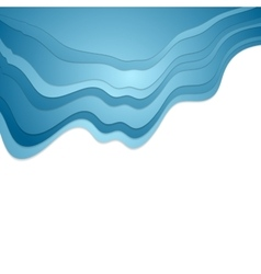 Abstract blue waves corporate background vector image vector image